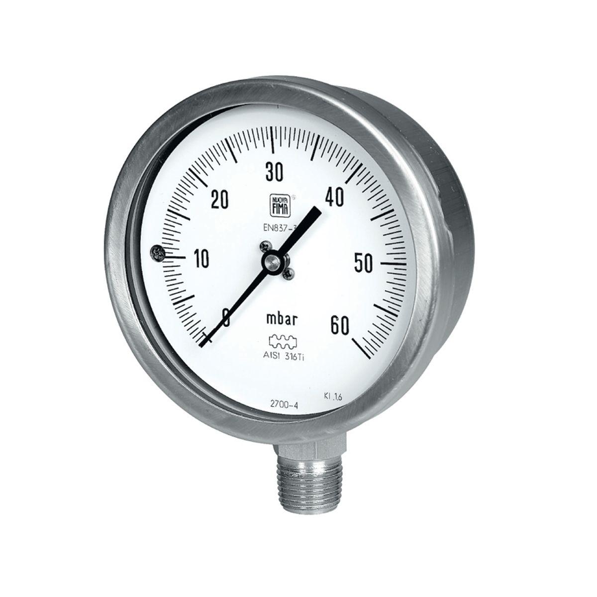 Manómetro de baja presión de la marca NuovaFima