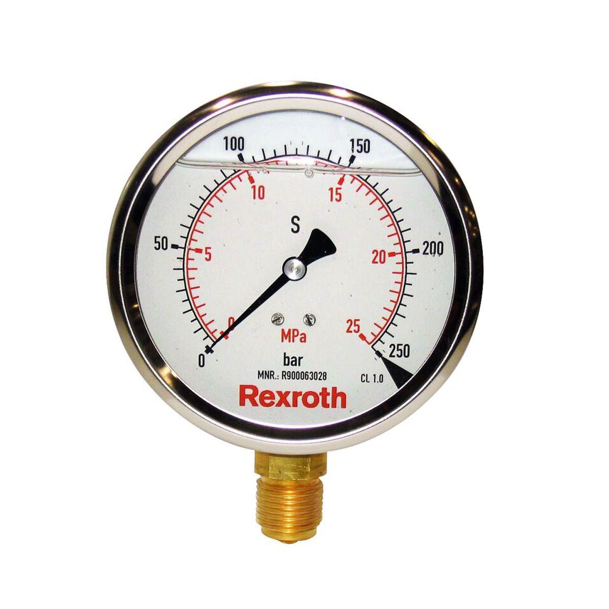 Stauff manómetro de presión Bosch Rexroth